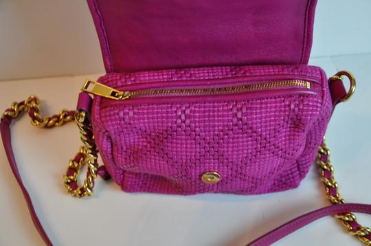 Marc Jacobs Silk Leather Woven Cross Body Bag