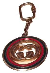 Gucci Gucci Red & Green Enameled GG Key Chain