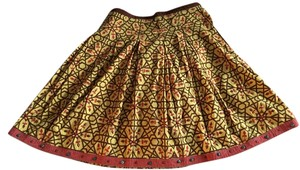 Yoana Baraschi Fall A-line Beaded Printed Skirt