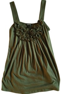 Express Sleeveless Green Tank Green Ruffle Going Out Top