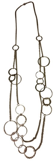 Other Silver bubble long necklace