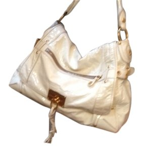 The Original Car Shoe Patent By Prada Gold Hardware Good Condition Winter White Hobo Bag