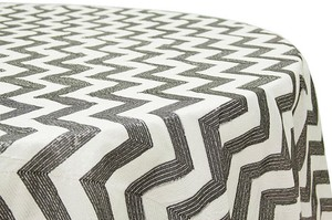 17 Sequins Tablecloth Perfect For Any Event - Brand New - Chevron Black And White