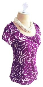 Banana Republic Top Magenta/white