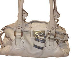 Chloé Satchel in Light Beige/ Off White