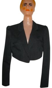 LaROK Midriff Pin Stripes Open Back Black Jacket