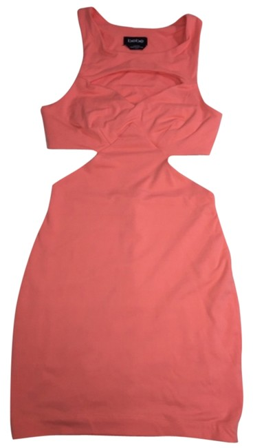 Preload https://item3.tradesy.com/images/bebe-coral-pink-mini-night-out-dress-size-2-xs-5921662-0-0.jpg?width=400&height=650