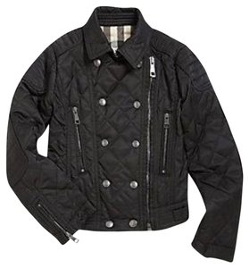 Burberry Motorcycle Quilted Kids Black Jacket