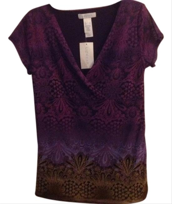 Liz Claiborne Top Multi Purple/Pink