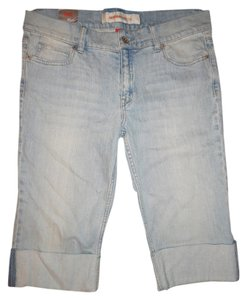 Mossimo Supply Co. Rolled Up Capri/Cropped Denim-Light Wash