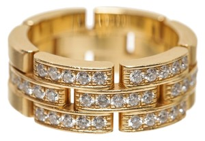 Cartier Cartier 18k Yellow Gold and Diamond Maillon Panthere de Cartier Ring (Size 53)