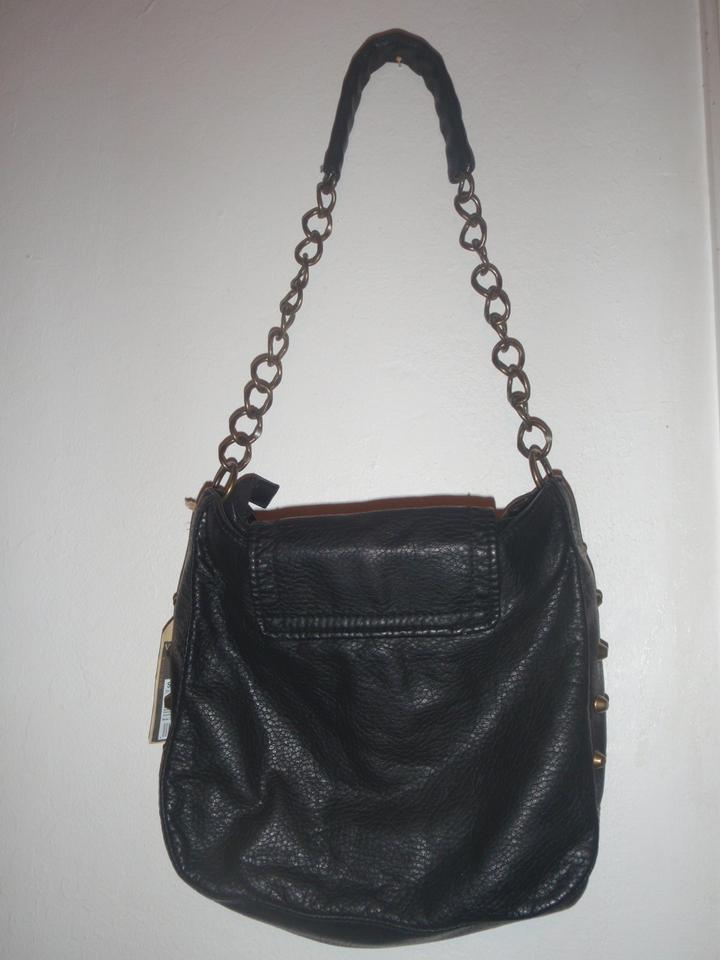 220cd2ff1275 Converse Shoulder Purse Vintage Black Leather Hobo Bag - Tradesy