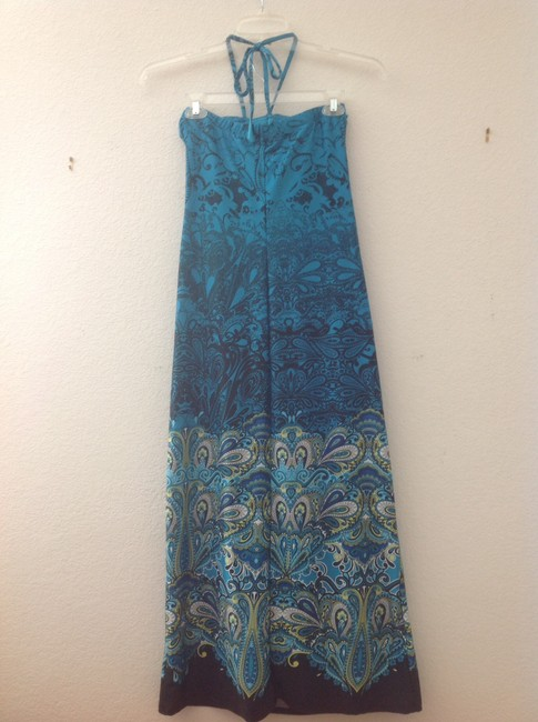 Multi Blue Maxi Dress by Other