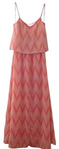 Orange/White Maxi Dress by Bisou Bisou