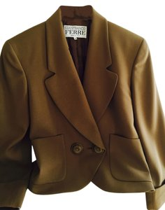 Gianfranco Ferre 100%wool Double Breasted. Vintage Filigreed Buttons Cocoa Jacket