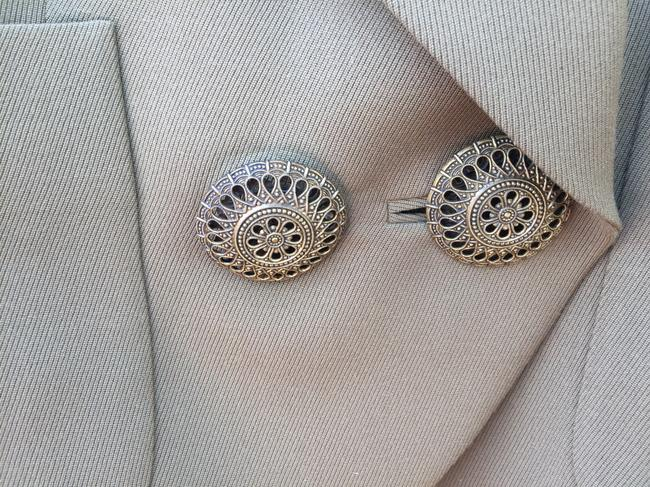 Gianfranco Ferre 100%wool Double Breasted. Vintage Filigreed Buttons Made In Italy Cocoa Jacket Image 1