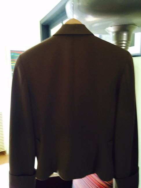 Gianfranco Ferre 100%wool Double Breasted. Vintage Filigreed Buttons Made In Italy Cocoa Jacket Image 2