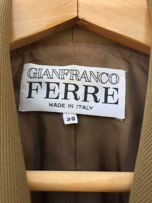 Gianfranco Ferre 100%wool Double Breasted. Vintage Filigreed Buttons Made In Italy Cocoa Jacket Image 3