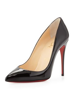 Christian Louboutin Pigalle Follies Patent Leather New Classic Louboutin 38 8 Black Pumps