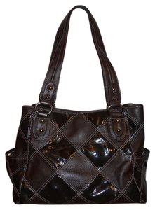 Tignanello Leather Tote Sachel Satchel in brown