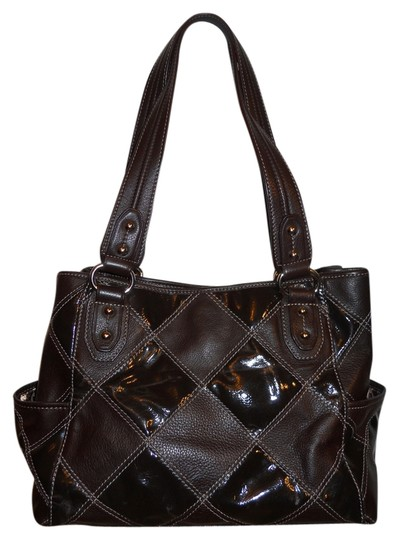 Tignanello Leather Tote Shoulder Satchel in brown