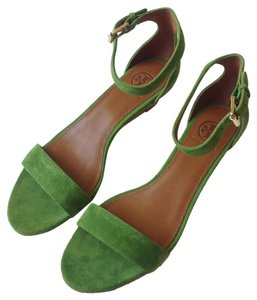 Tory Burch Leaf Green Wedges