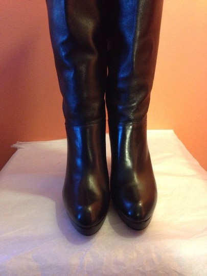 Stuart Weitzman Heel Heels Crushable Leather High Tall Size 9 black Boots