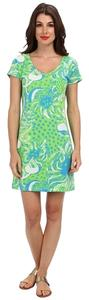 Lilly Pulitzer short dress Green, Blue, and White T-shirt T-shirt on Tradesy
