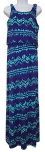 Blue Maxi Dress by Pixley