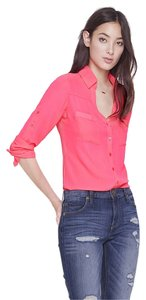 Express Button Down Shirt Fuchsia