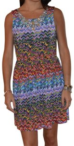 T-Bags Los Angeles short dress Purple on Tradesy