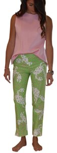 Lilly Pulitzer Straight Pants Green pink white