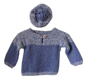 NEW Hand Made Child's Sweater & Hat Set Hand Knit Unisex Sweater Set - New