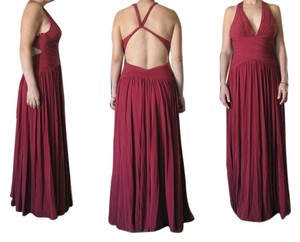 BCBGMAXAZRIA Sexy Halter Red Dress