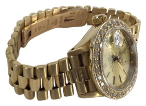 Rolex Ladies Automatic 26mm 18k Gold Rolex Datejust