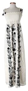 black/white Maxi Dress by Juicy Couture Silk Embroidered