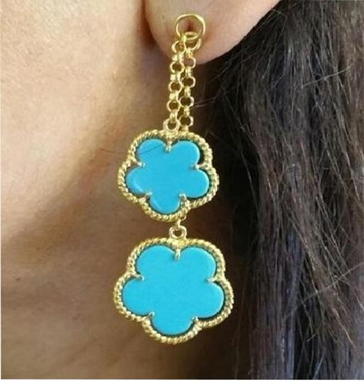 Preload https://item4.tradesy.com/images/blue-turquoise-sterling-silver-14k-gold-plated-earrings-5928388-0-7.jpg?width=440&height=440