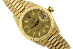 Rolex LADIES ROLEX PRESIDENTIAL DATEJUST 18K GOLD WATCH