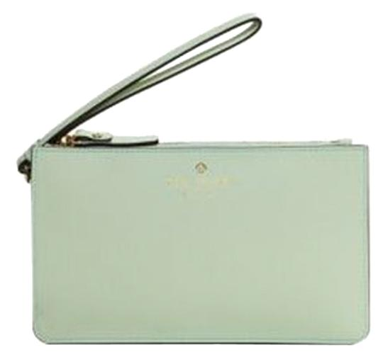 Kate Spade Leather Gold Hardware Wristlet in Mint Mojito