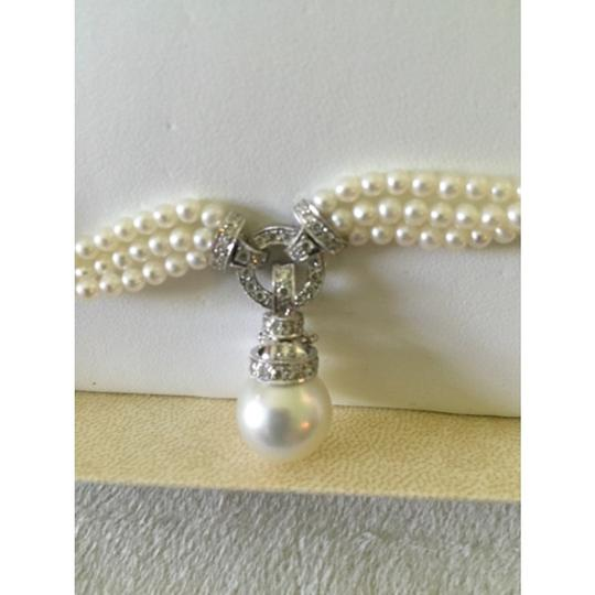 Quinn's Goldsmith Tahitian South Sea Pearl And Diamond Necklace Image 1