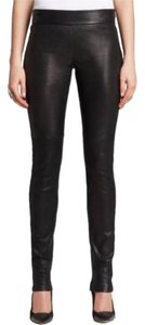 Diane von Furstenberg Leather Leather Leather Leggings Fall Winter Dvf Barney's Bergdorf Theory Skinny Pants Black
