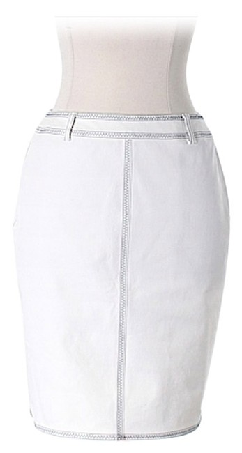 Escada Trim Skirt White and Navy