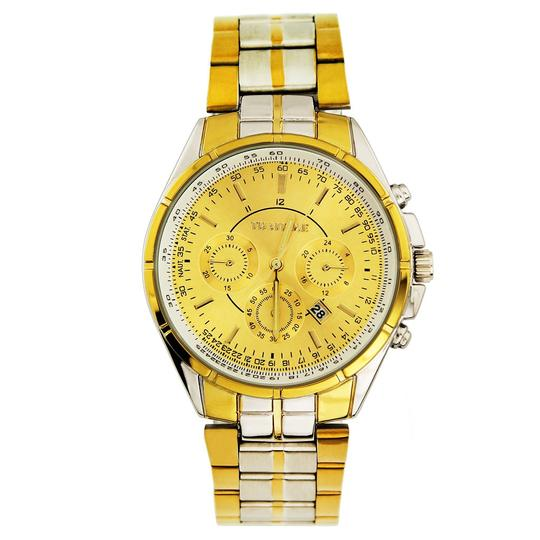Other BOGO Men's Stainless Steel 2 Tone Quartz Watch Free Shipping