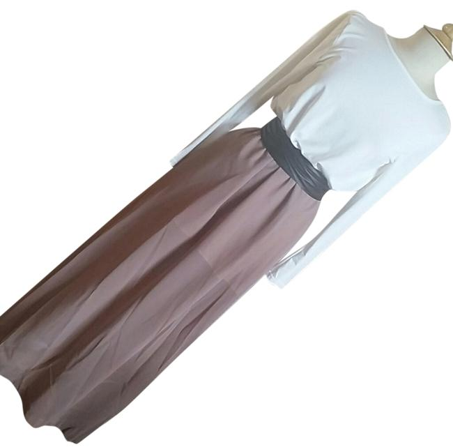 White and Mauve Maxi Dress by Other