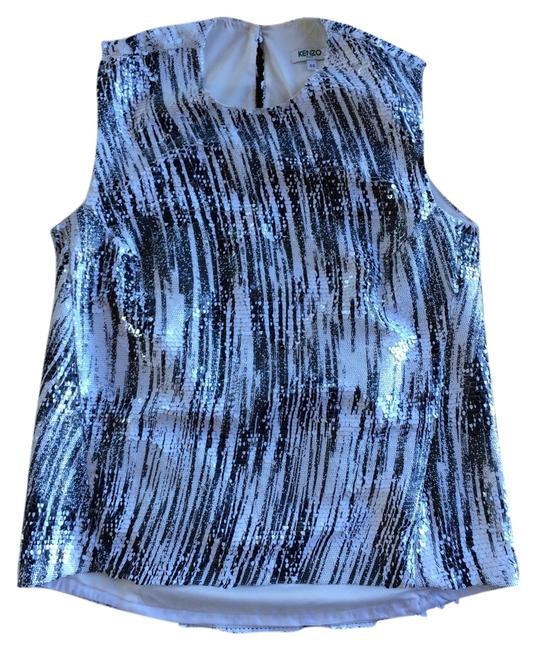 Kenzo Sequin Top Black and White