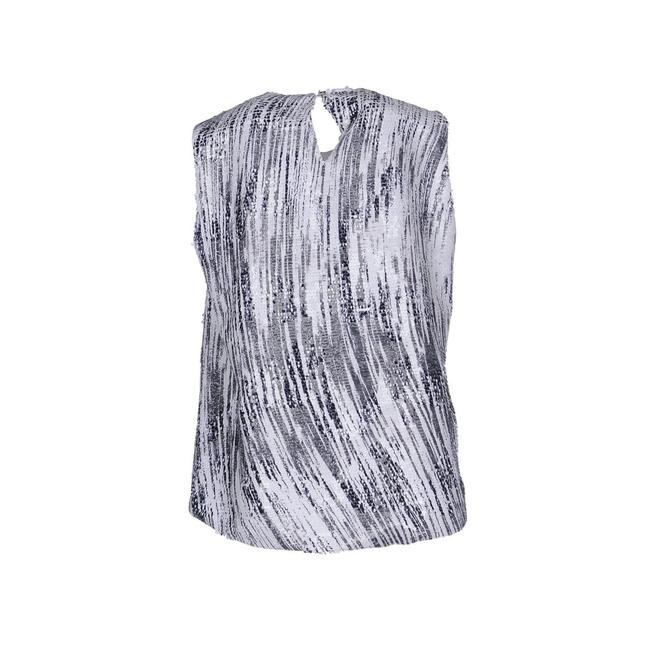 Kenzo Sequin Top Black and White Image 1