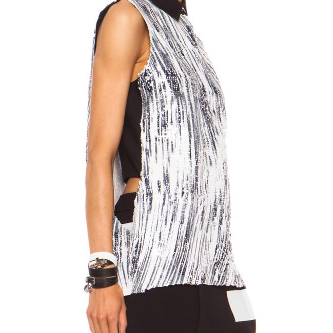 Kenzo Sequin Top Black and White Image 8