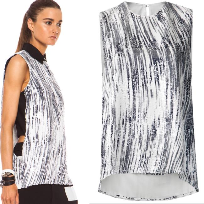 Kenzo Sequin Top Black and White Image 9