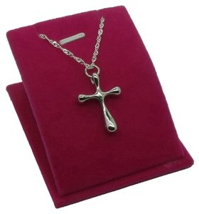 Silver Cross Necklace Free Shipping