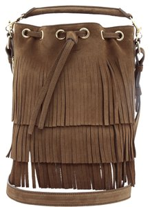 Saint Laurent Ysl Fringed Cross Body Bag